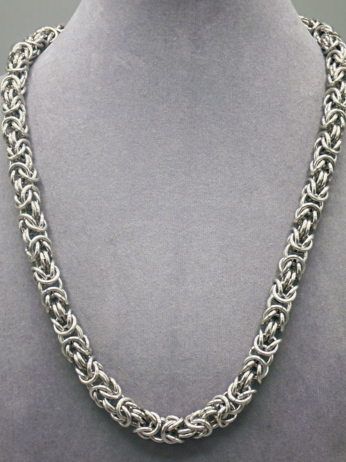 Byzantine weave aluminum chainmail necklace