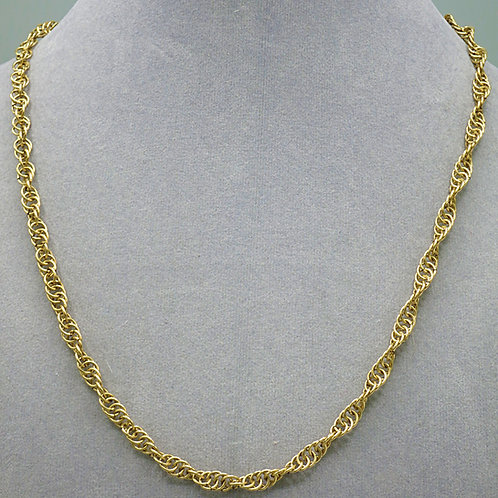 "14k gold-filled 18.5"" Spiral chainmail necklace"