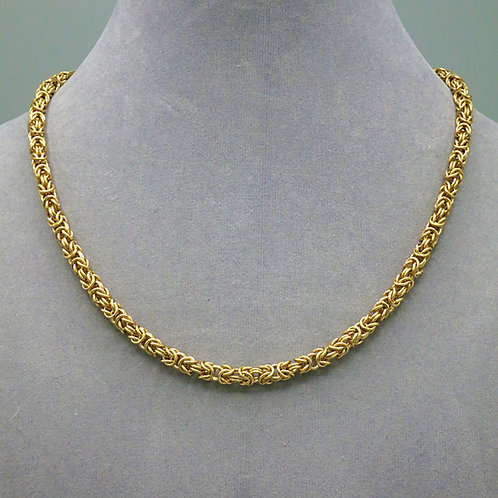 """14k gold-filled 16.25"""" Byzantine chainmail necklace"""