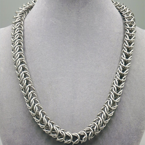 """18.9"""" Box weave aluminum chainmail necklace"""