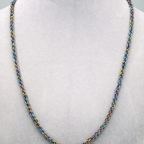Niobium JPL chainmail necklace