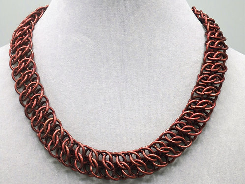 "15.7"" Brown GSG weave anodized aluminum chainmail necklace"