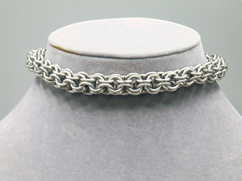 """10.4"""" Full Persian weave anodized aluminum chainmail anklet"""