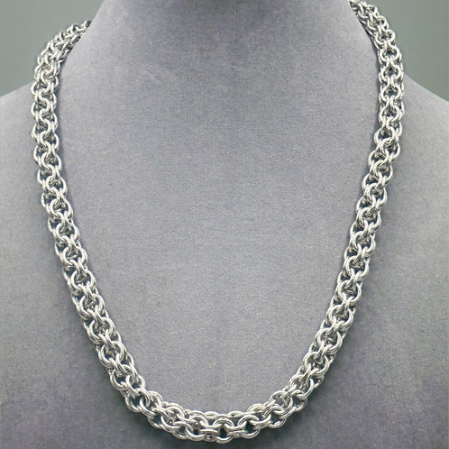 "19"" Inverted Round weave aluminum chainmail necklace"