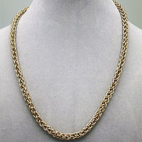 "18.7"" Gold Forars Kaede weave anodized aluminum chainmail ne"