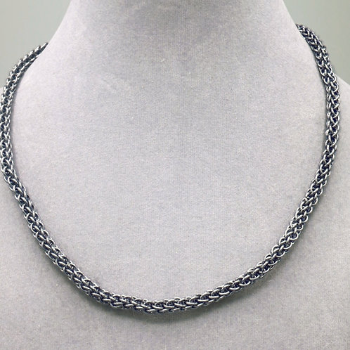 "16.7"" Gunmetal Forars Kaede weave aluminum chainmail necklace"