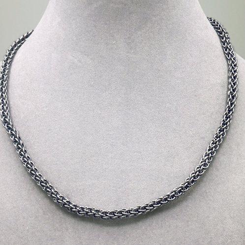 "16.7"" Gunmetal Forars Kaede weave aluminum chainmail necklace"