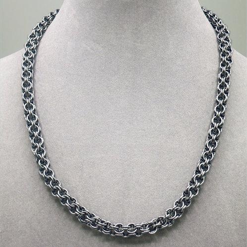"18.2"" Gunmetal Inverted Round weave anodized aluminum chainmail ne"