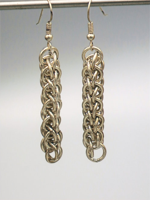 Forars Kaede chainmail earrings in argentium silver