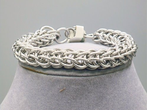 "8.4"" Full Persian weave anodized aluminum chainmail bracelet"