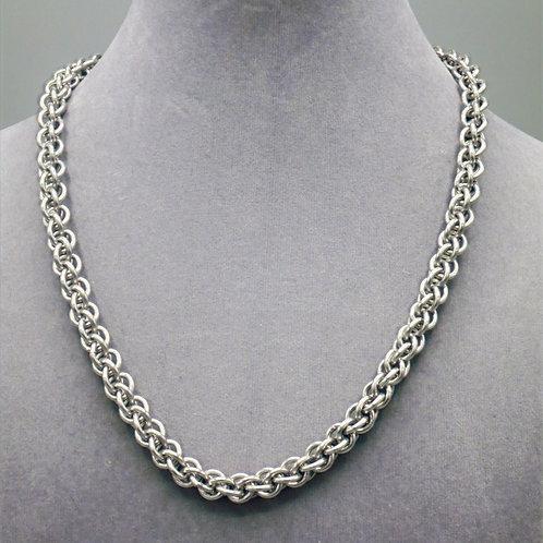 JPL weave aluminum chainmail necklace