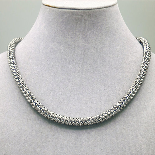 """16.9"""" Roundmaille weave aluminum chainmail necklace"""