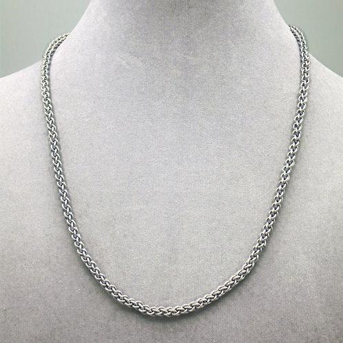 "18.5"" JPL weave aluminum chainmail necklace"