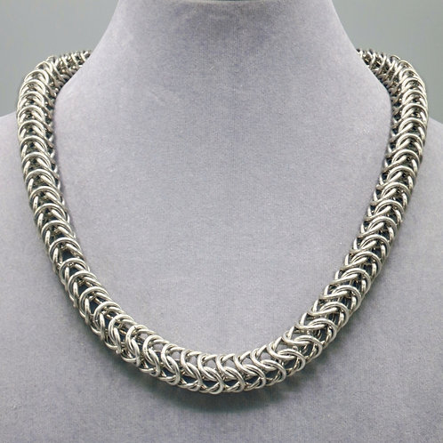 "20"" Box weave aluminum chainmail necklace"
