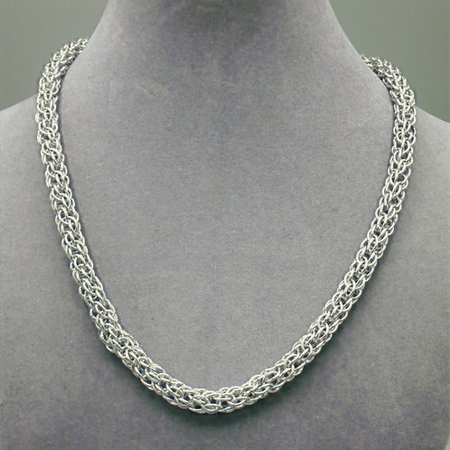 "18.3"" Candy Cane weave aluminum chainmail necklace"