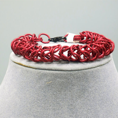 "9"" Byzantine Box weave anodized aluminum chainmail bracelet"