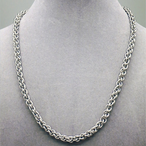 JPL weave aluminum chainmail necklace