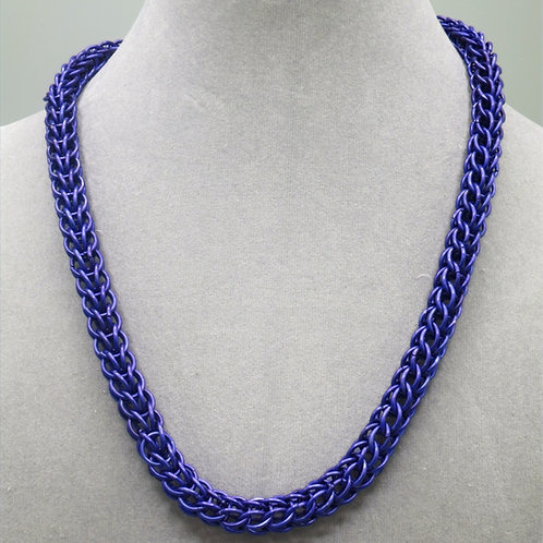 "19"" Violet Full Persian weave anodized aluminum chainmail necklace"