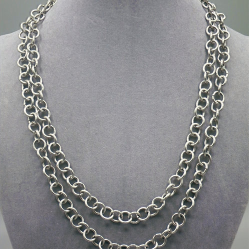 """52.4"""" Single link aluminum chainmail necklace"""