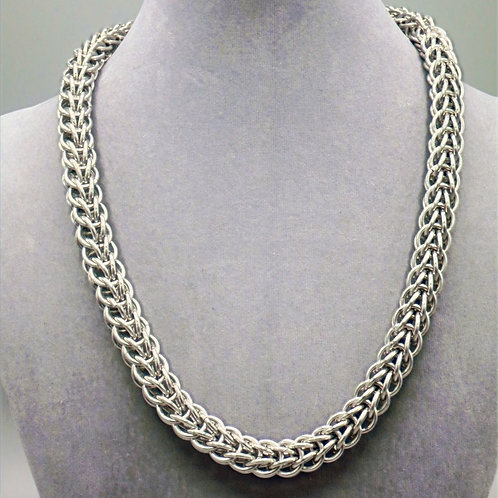 Full Persian weave aluminum chainmail necklace
