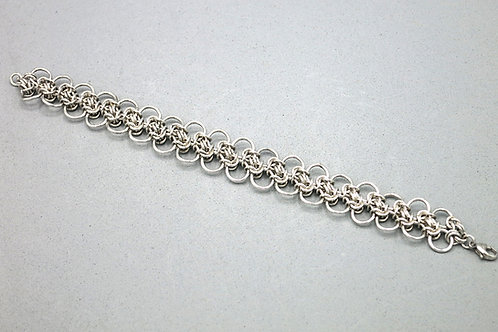 "Argentium silver Byzantine variant 8"" chainmail bracelet"
