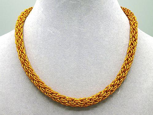 "15.6"" Orange Candy Cane weave anodized aluminum chainmail ne"
