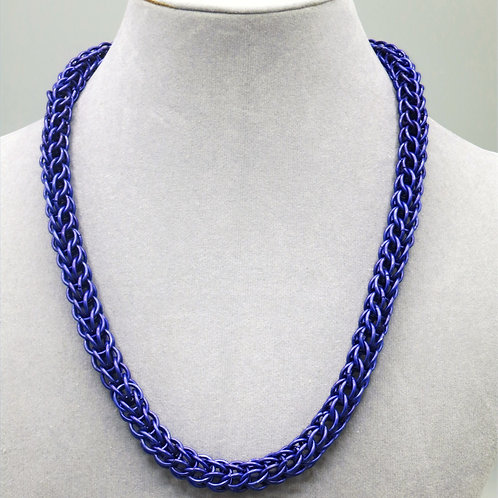 "17.7"" Violet Full Persian weave anodized aluminum chainmail necklace"