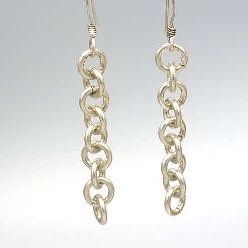 Argentium sterling 1-in-1 chainmail earrings