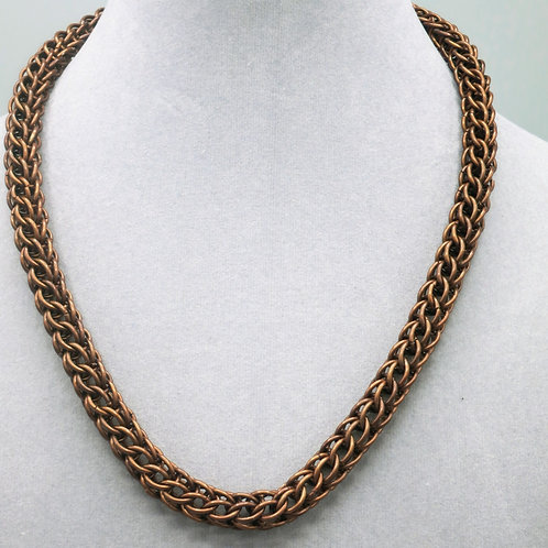 "18.5"""" Brown Full Persian weave anodized aluminum chainmail necklace"