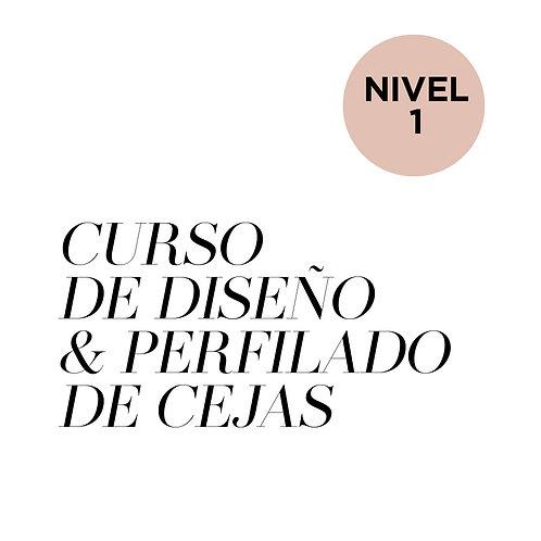 NIVEL 1 - CURSO DE DISEÑO Y PERFILADO DE CEJAS