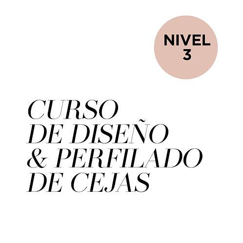 NIVEL 3 - CURSO DE DISEÑO Y PERFILADO DE CEJAS