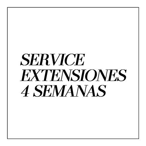 Extensiones de Pestañas SERVICE 4 SEMANAS
