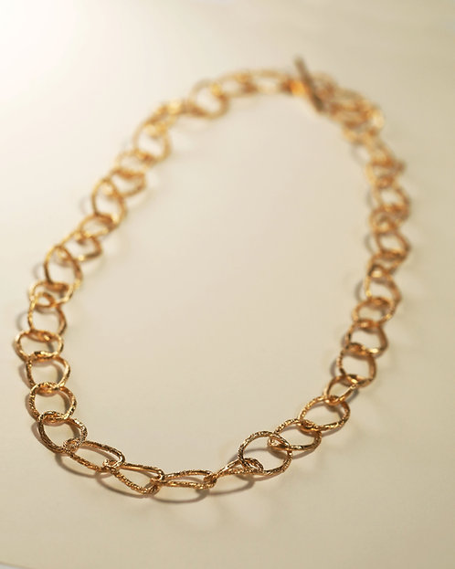 Large Hoop Chain Necklace