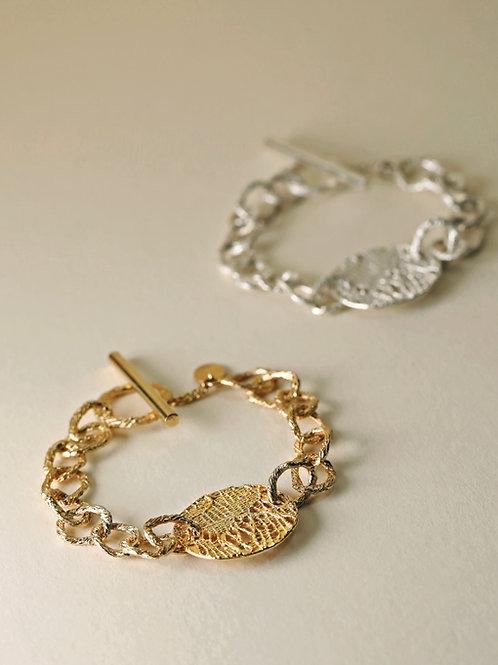 Full Moon Hoop Chain Bracelet
