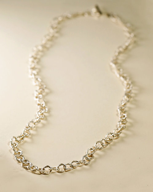 Small Hoop Chain Long Necklace