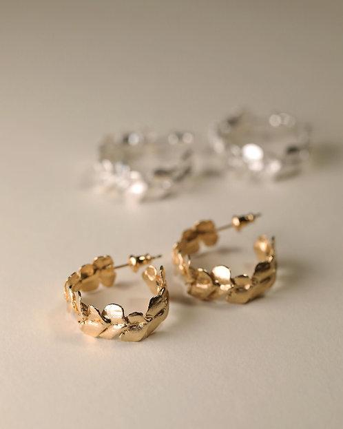 Rose Petal Hoop Earrings