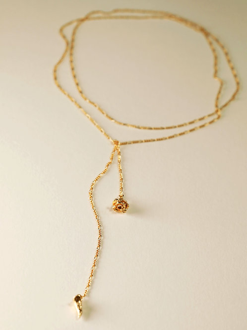 Mini Rose & Thorn Lariat
