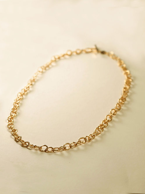 Small Hoop Chain Middle Long Necklace