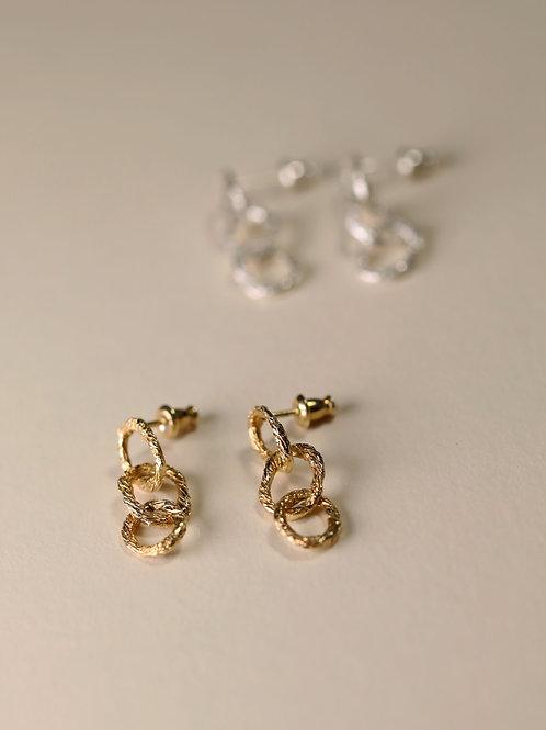 Small Hoop Chain Earrings