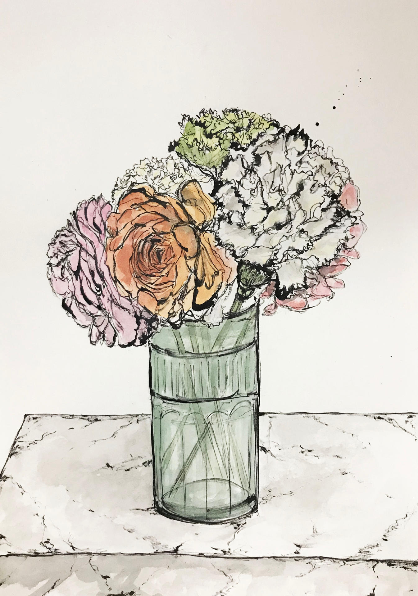 Ranunculus and carnation