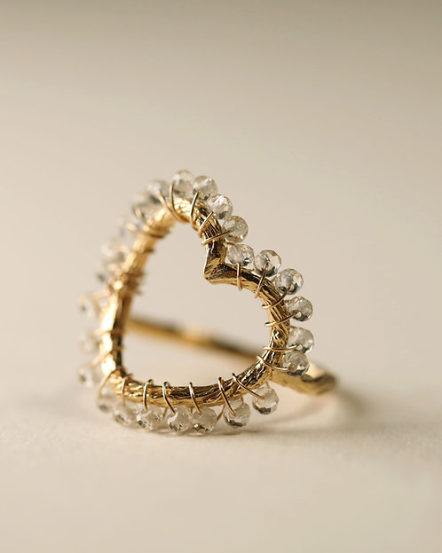 Heart & Gem Ring