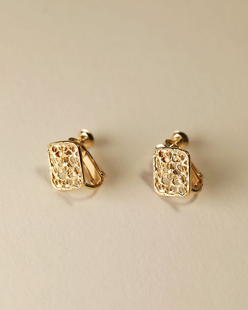 Small Square Earring / Clip