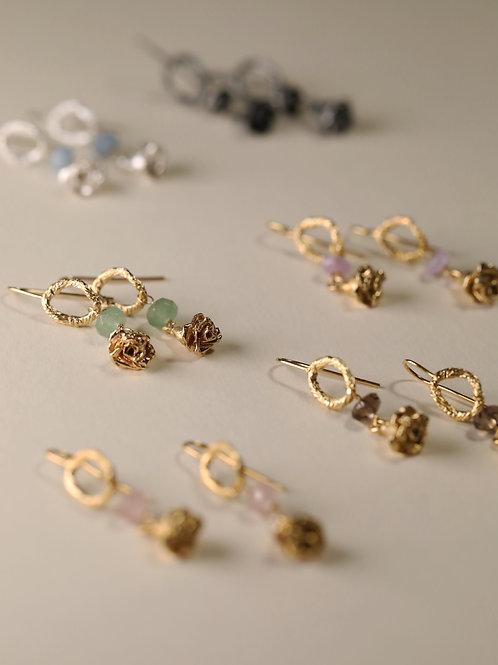 Rose & Gem Earrings