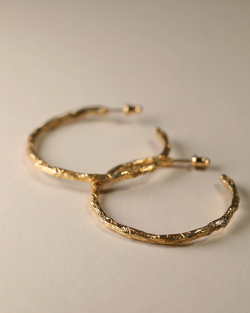 Twig Hoop Earrings / Large