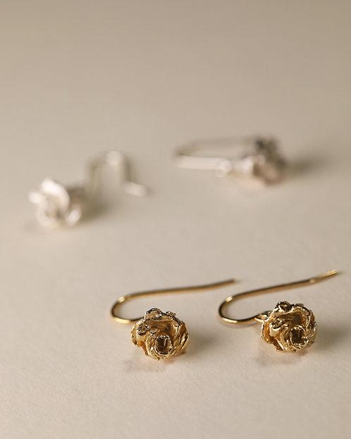 Mini Rose Earrings / Hook