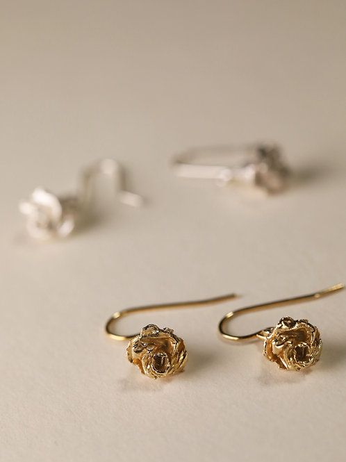 Mini Rose Earrings / Hook