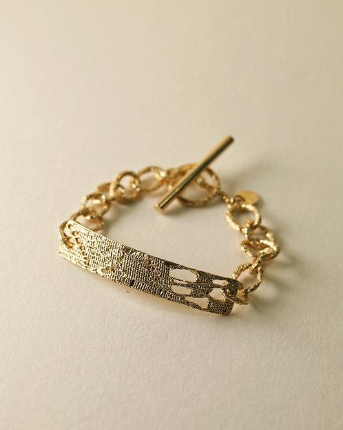 Rectangle Hoop Chain Bracelet