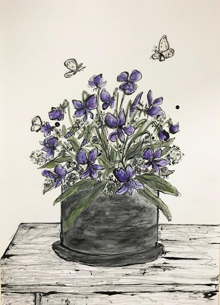 Violette pot