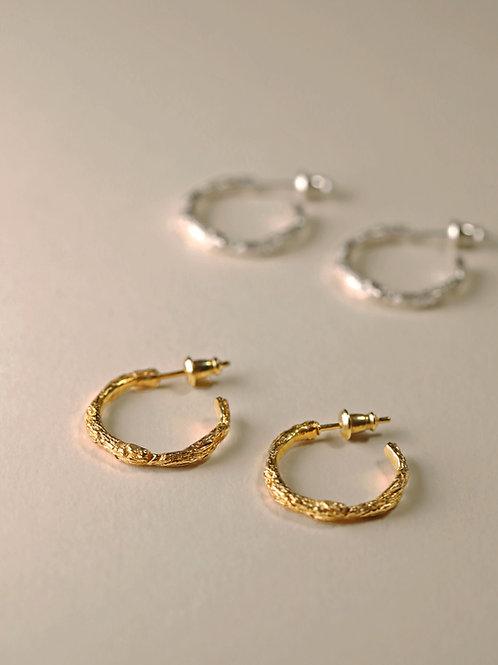 Twig Hoop Earrings / Small