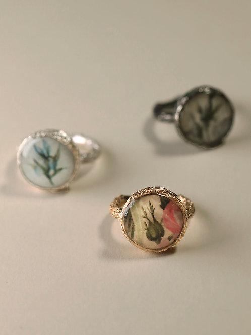 Floral Frame Ring
